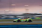 January 24-27, 2019. IMSA Weathertech Series ROLEX Daytona 24. #11 GRT Grasser Racing Team Lamborghini Huracan GT3, Orange 1 Racing, GTD: Mirko Bortolotti, Christian Engelhart, Rik Breukers, Rolf Ineichen11\