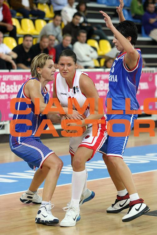DESCRIZIONE : Lanciano Italy Italia Eurobasket Women 2007 Additional Qualifying Tournament Slovak Republic Poland Slovacchia Polonia<br /> GIOCATORE : Martina Luptakova Elzbieta Miedzik<br /> SQUADRA : Slovak Republic Slovacchia Poland Polonia<br /> EVENTO : Eurobasket Women 2007 Campionati Europei Donne 2007<br /> GARA : Slovak Republic Poland Slovacchia Polonia<br /> DATA : 21/09/2007<br /> CATEGORIA : Penetrazione Difesa<br /> SPORT : Pallacanestro <br /> AUTORE : Agenzia Ciamillo-Castoria/E.Castoria <br /> Galleria : Eurobasket Women 2007<br /> Fotonotizia : Lanciano Italy Italia Eurobasket Women 2007 Additional Qualifying Tournament Slovak Republic Poland Slovacchia Polonia<br /> Predefinita :