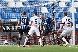"""Foto LaPresse/Filippo Rubin<br /> 11/05/2019 Reggio Emilia (Italia)<br /> Sport Calcio<br /> Atalanta - Genoa - Campionato di calcio Serie A 2018/2019 - Stadio """"Mapei Stadium""""<br /> Nella foto: GOAL GORAN PANDEV (GENOA)<br /> <br /> Photo LaPresse/Filippo Rubin<br /> May 11, 2019 Reggio Emilia (Italy)<br /> Sport Soccer<br /> Atalanta vs Genoa - Italian Football Championship League A 2018/2019 - """"Mapei stadium"""" Stadium <br /> In the pic: GOAL GORAN PANDEV (GENOA)"""