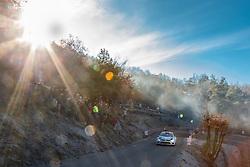 14.01.2014, Shakedownstrecke, Monte Carlo, FRA, FIA, WRC, Rallye Monte Carlo, Shakedown, im Bild LATVALA Jari Matti / ANTTILA Miikka ( VOLKSWAGEN MOTORSPORT (DEU) / VOLKSWAGEN POLO R ) im Gegenlicht mit strahlender Sonne // during the Shakedown of FIA Rallye Monte Carlo held near Monte Carlo, France on 2014/01/14. EXPA Pictures © 2014, PhotoCredit: EXPA/ Eibner-Pressefoto/ Neis<br /> <br /> *****ATTENTION - OUT of GER*****