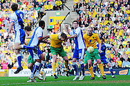 London - Saturday, April 17th 2010: Michael Neson of Norwich City scores against Gillingham during the Coca Cola League One match at Carrow Road, Norwich..(Pic by Alex Broadway/Focus Images)