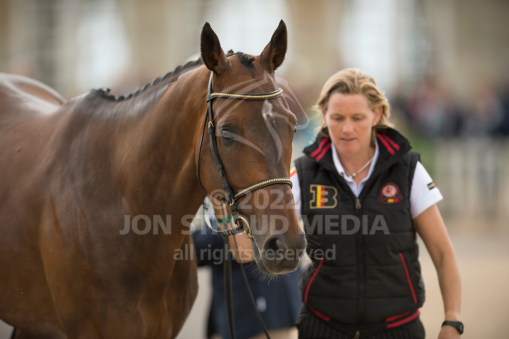 Karin Donckers, (BEL), Fletcha van t Verahof - First Horse Inspection  - Alltech FEI World Equestrian Games&trade; 2014 - Normandy, France.<br /> &copy; Hippo Foto Team - Shannon Brinkman<br /> 25/06/14