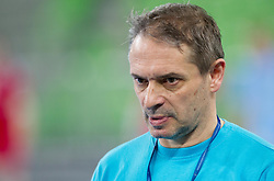 Tone Tiselj, head coach of Slovenia during handball match between Women National Teams of Slovenia and Czech Republic of 4th Round of EURO 2012 Qualifications, on March 25, 2012, in Arena Stozice, Ljubljana, Slovenia. (Photo by Vid Ponikvar / Sportida.com)