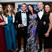 Ellora Harper, guest, Matthew Cook, Louise Van Der Velde  and guests attend Rochay High Society Soiree with Jovoy at Westbury Mayfair grafton suite on 21 November 2019, London, UK.
