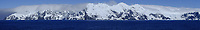 Panoramic view of Elephant Island. Image taken with a Fuji X-T1 camera and 60 mm f/2.4 lens (ISO 200, 60 mm, f/16, 1/500 sec). In camera panorama.