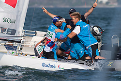 SEGUIN Damien, FRA, 1 Person Keelboat, 2.4mR, Sailing, Voile, Celebrations, Gold Medal à Rio 2016 Paralympic Games, Brazil