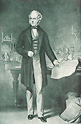 Henry John Temple, 3rd Viscount Palmerston (1784-1865) addressing Parliament.  Foreign Secretary 1830-1841; Prime Minister 1855-1857, 1858, 1858-1865.  Palmerston addressing Parliament from the dispatch box.