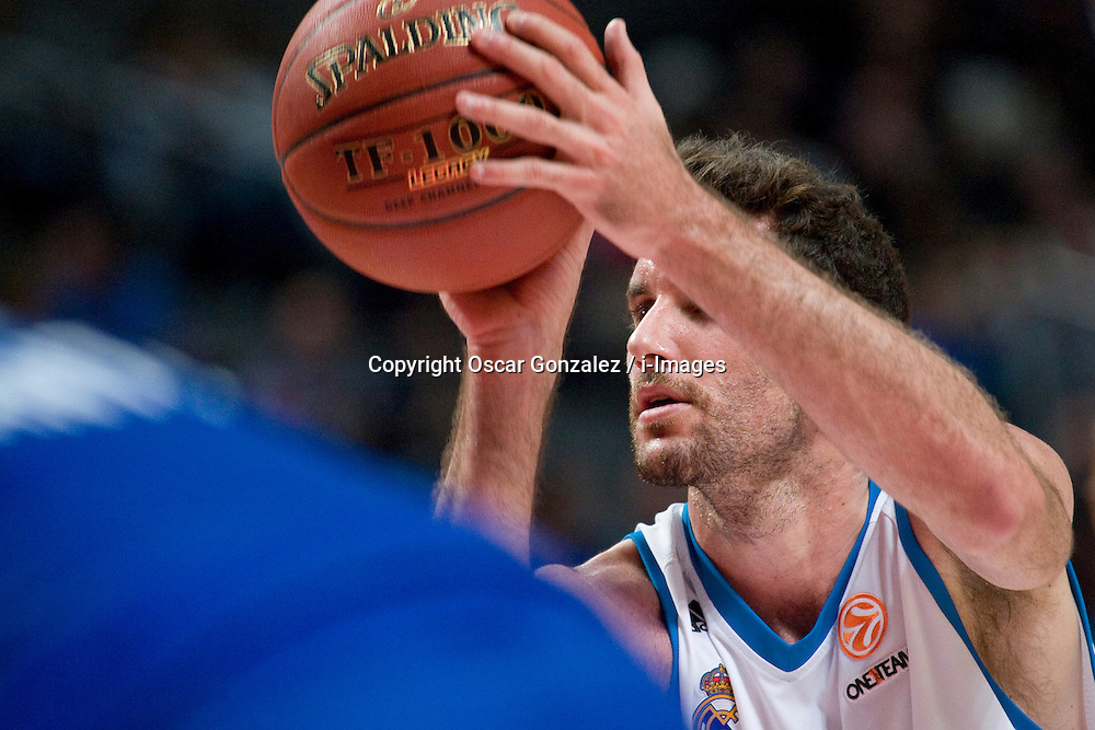 Euroleague basketball match, Real Madrid vs Mapooro Cantu, Palacio de los Deportes, Madrid. Spain, with Real Madrid 80-66 victory, November 1, 2012. Photo by Oscar Gonzalez / i-Images..SPAIN OUT