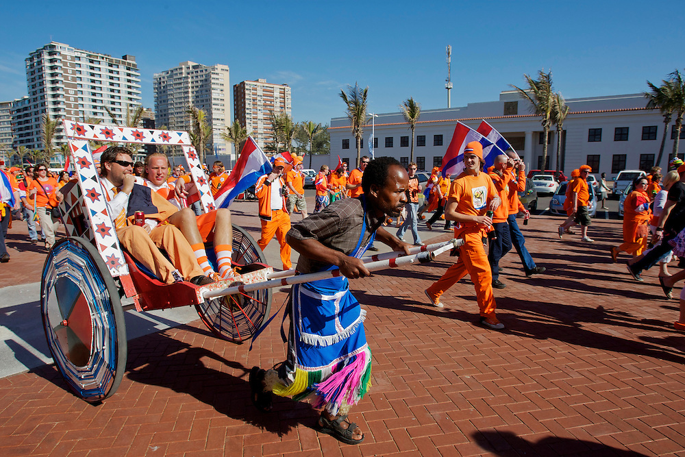 Dutch supporters at the world cup soccer in South Africa<br />