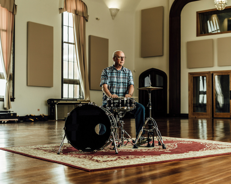 """Allyn Robinson, 65, New Orleans, Louisiana, USA. """"I lost my 1965 Slingerland drum kit."""" 