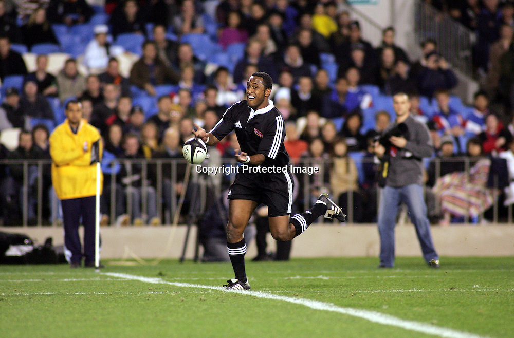 Joe Rokocoko during the All Black Trial at Eden Park, Auckland, Tuesday 1 June, 2004. The Probables beat the Possibles, 29 -27.<br />