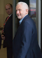 London, July 23rd 2017. Labour leader Jeremy Corbyn attends the Andrew Marr Show at the BBC's New Broadcasting House in London.