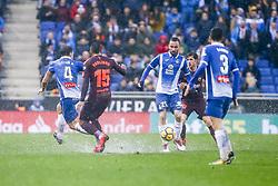 February 4, 2018 - Barcelona, Catalonia, Spain - RCD Espanyol midfielder Sergi Darder (25) during the match between RCD Espanyol vs FC Barcelona, for the round 22 of the Liga Santander, played at Cornella -El Prat Stadium on 4th February 2018 in Barcelona, Spain. (Credit Image: © Urbanandsport/NurPhoto via ZUMA Press)