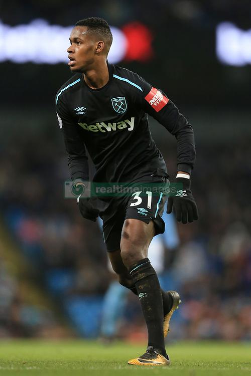 3rd December 2017 - Premier League - Manchester City v West Ham United - Edimilson Fernandes of West Ham - Photo: Simon Stacpoole / Offside.