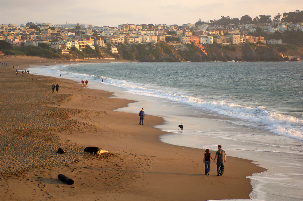 Baker Beach and Presidio, Golden Gate National Recreation Area, San Francisco, California, United States of America
