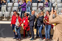 ROTHENBERGER Sven, THEODORESCU Monica (Bunestrainer Dressur), HILBERATH Jonny (Co-Bundestrainer Dressur), RÖSER Klaus (Equipechef)<br /> Rotterdam - Europameisterschaft Dressur, Springen und Para-Dressur 2019<br /> Impressionen am Rande<br /> Longines FEI European Championships Dressage Grand Prix - Teams (2nd group)<br /> Teamwertung 2. Gruppe<br /> 20. August 2019<br /> © www.sportfotos-lafrentz.de/Stefan Lafrentz