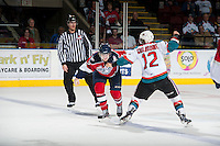 KELOWNA, CANADA - MARCH 28:  on March 28, 2014 during game 5 of the first round of WHL Playoffs at Prospera Place in Kelowna, British Columbia, Canada.   (Photo by Marissa Baecker/Getty Images)  *** Local Caption ***