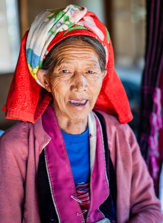 Palaung tribe old woman protrait (Myanmar)
