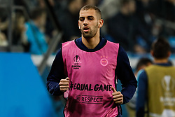 February 21, 2019 - Saint Petersburg, Russia - Islam Slimani of Fenerbahce SK during the UEFA Europa League Round of 32 second leg match between FC Zenit Saint Petersburg and Fenerbahce SK on February 21, 2019 at Saint Petersburg Stadium in Saint Petersburg, Russia. (Credit Image: © Mike Kireev/NurPhoto via ZUMA Press)