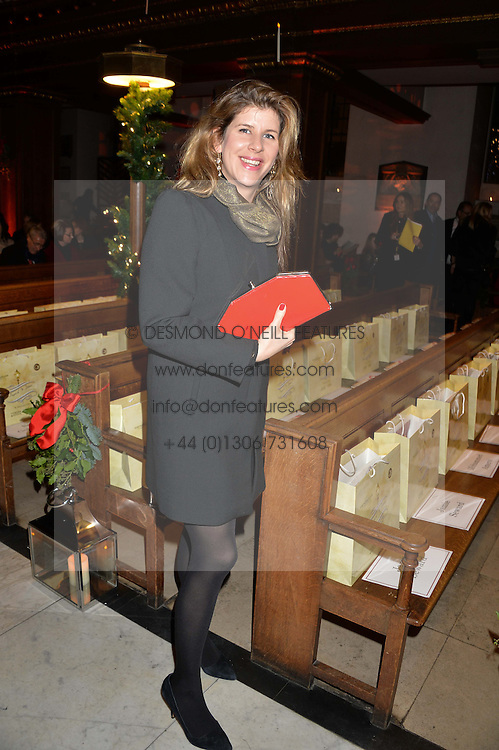 ALICE IRWIN at the Fortnum & Mason and Quintessentially Foundation Fayre of St.James's in association with The Crown Estate held at St.James's Church, Piccadilly followed but a reception at Fortnum & Mason, Piccadilly,London on 5th December 2013.