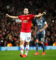 Daley Blind of Manchester United celebrates after scoring his sides second goal - Mandatory by-line: Matt McNulty/JMP - 31/10/2017 - FOOTBALL - Old Trafford - Manchester, England - Manchester United v Benfica - UEFA Champions League Group A