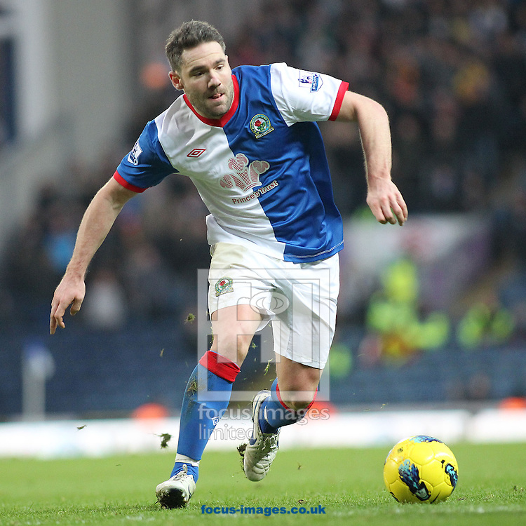 Picture by MIchael Sedgwick/Focus Images Ltd. 07900 363072.14/01/12.David Dunn of Blackburn in action against Fulham during the Barclays Premier League match at the Ewood Park stadium, Blackburn, Lancashire.