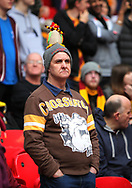 Bradford fan after losing the Sky Bet League 1 play-off final at Wembley Stadium, London<br /> Picture by Glenn Sparkes/Focus Images Ltd 07939664067<br /> 20/05/2017