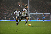 Fulham attacker Alex Kacaniklic (Kacaniklic) dribbling during the Sky Bet Championship match between Fulham and Sheffield Wednesday at Craven Cottage, London, England on 2 January 2016. Photo by Matthew Redman.