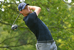 August 12, 2018 - St. Louis, Missouri, U.S. - ST. LOUIS, MO - AUGUST 12: Thomas Pieters hits his shot on the #2 tee during the final round of the PGA Championship on August 12, 2018, at Bellerive Country Club, St. Louis, MO.  (Photo by Keith Gillett/Icon Sportswire) (Credit Image: © Keith Gillett/Icon SMI via ZUMA Press)