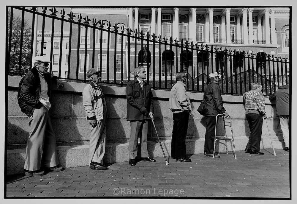 War Veterans, At the State House. Boston, 1991..