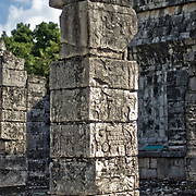 Templo de los Guerreros (Temple of Warriors) at the ancient Mayan ruins at Chichen Itza, Yucatan, Mexico