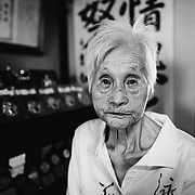 YAMAGUCHI, JAPAN - AUGUST 4: 103-year-old Mieko Nagaoka poses for a photo in her house in Yanai City, Yamaguchi prefecture, Japan on August 4, 2017. (Photo: Richard Atrero de Guzman/NUR Photo)