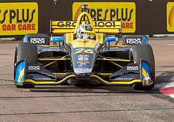 March 10, 2019 - St. Petersburg, FL, U.S. - ST. PETERSBURG, FL - MARCH 10: Andretti Autosport driver Zach Veach (26) of United States during the IndyCar Series - Firestone Grand Prix Race on March 10 in St. Petersburg, FL. (Photo by Andrew Bershaw/Icon Sportswire) (Credit Image: © Andrew Bershaw/Icon SMI via ZUMA Press)