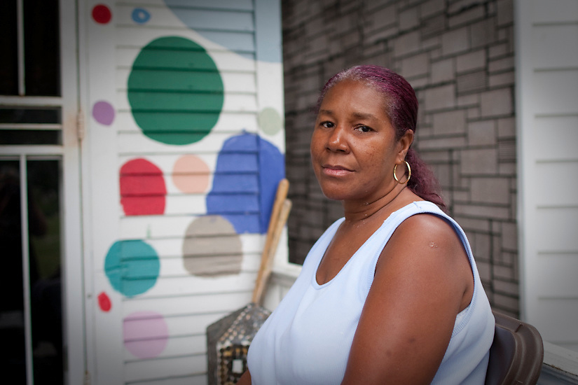 This is Denise. Her brother, Tyree Guyton, is the founder of &quot;The HP&quot;.<br /> The Heidelberg Project is a permanent neighbourhood art installation located in Detroit, MI