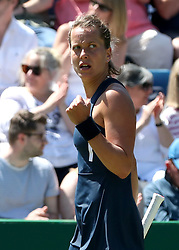 Czech Republic's Barbora Strycova reacts during her quarter final against Ukraine's Lesia Tsurenko during day five of the Nature Valley Classic at Edgbaston Priory, Birmingham.