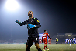Jordi van Stappershoef of Bristol Rovers celebrates saving Ruel Sotiriou of Leyton Orient's penalty to win the game for his side - Mandatory by-line: Robbie Stephenson/JMP - 04/12/2019 - FOOTBALL - Memorial Stadium - Bristol, England - Bristol Rovers v Leyton Orient - Leasing.com Trophy