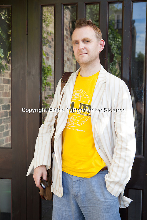 Nick Harkaway, author, novelist &amp; tech blogger, at Stoke Newington Literary Festival, London 2014<br /> 8th June 2014<br /> <br /> Photograph by Elaine Sutton/Writer Pictures<br /> <br /> WORLD RIGHTS