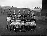 15/02/1958<br /> 02/15/1958<br /> 15 February 1958<br /> Soccer: FAI Cup game, Bohemians v Evergreen United at Dalymount Park, Dublin.  The Bohemians team.