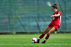 NORMAL, IL - August 10:  Mallory Mushill during a nonconference exhibition women's soccer match between the Southern Illinois Edwardsville Cougars and the Illinois State Redbirds August 10 2019 on Adelaide Street Field in Normal IL (Photo by Alan Look)