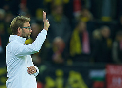 DORTMUND, GERMANY - Thursday, April 7, 2016: Liverpool's manager Jürgen Klopp before the UEFA Europa League Quarter-Final 1st Leg match against Borussia Dortmund at Westfalenstadion. (Pic by David Rawcliffe/Propaganda)