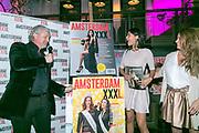 2018-03-20. De Bajes, Amsterdam. Lancering 6e editie van Amsterdam XXXL. Op de foto: Mark Teurlings en Yasmin Verheijen