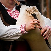 Bulgarian folk musicians, playing traditional songs of the Beglika region