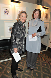 GILLIAN, LADY HOWARD DE WALDEN and MRS SUSAN LYALL at a private view of The Secret Garden and A Little Princess an exhibition of original watercolours by Graham Rust held at St.Wilfrid's Hall, The Brompton Oratory, London on 2nd October 2012.