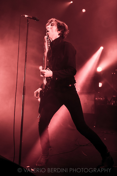 Van McCann of Welsh band Catfish and the Bottlemen playing live at the Cambridge Corn Exchange on 11 Nov 2015 touring their album The Balcony