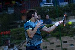June 18, 2018 - L'Aquila, Italy - Gianluigi Quinzi during match between Roberto Quiroz (ECU) and Gianluigi Quinzi (ITA) during day 3 at the Internazionali di Tennis Citt dell'Aquila (ATP Challenger L'Aquila) in L'Aquila, Italy, on June 18, 2018. (Credit Image: © Manuel Romano/NurPhoto via ZUMA Press)