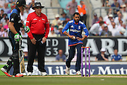 England Adil Rashid during the Royal London One Day International match between England and New Zealand at the Oval, London, United Kingdom on 12 June 2015. Photo by Phil Duncan.