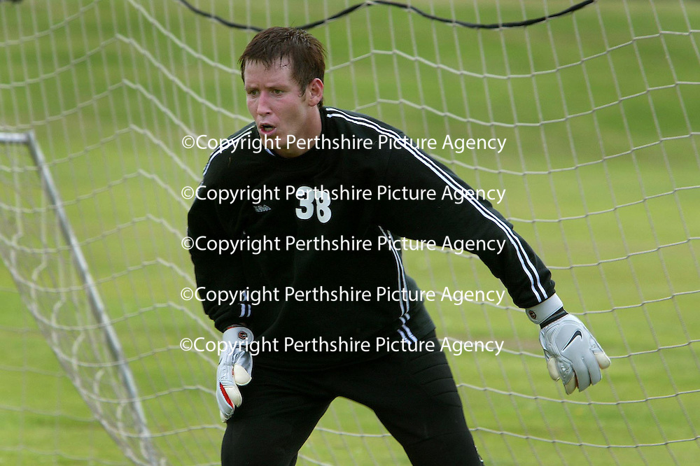 Ex-Celtic keeper Stewart Kerr who is training with St Johnstone.<br />see story by Gordon Bannerman Tel: 01738 553978 or 07729 865788<br />Picture by Graeme Hart.<br />Copyright Perthshire Picture Agency<br />Tel: 01738 623350  Mobile: 07990 594431