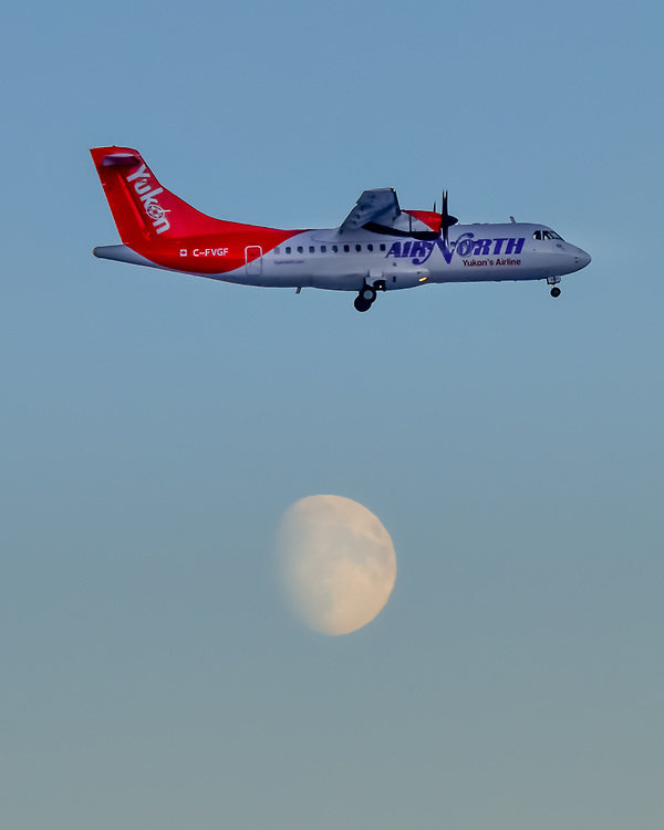 The ATR and the moon share the same airspace