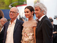 Gabriele Salvatores, Domenico Procacci and Kasia Smutniak at the gala screening for the film Everest and opening ceremony at the 72nd Venice Film Festival, Wednesday September 2nd 2015, Venice Lido, Italy.