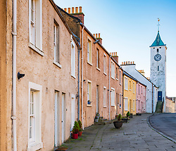 View of historic old original buildings in West Wemyss in Fife , Scotland UK